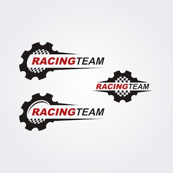 Collezione logo racing team