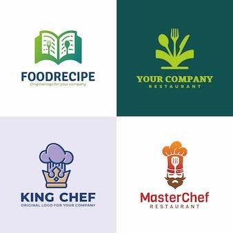 Collezione logo ristorante creativo unico.
