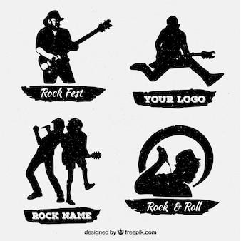 Collezione logo rock vintage