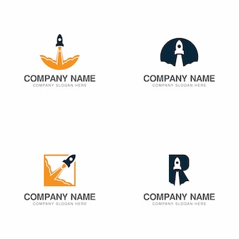 Collezione logo rocket