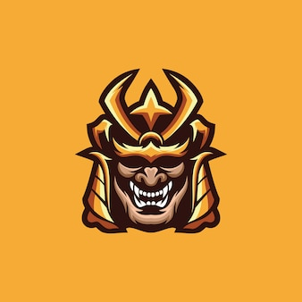 Collezione logo samurai