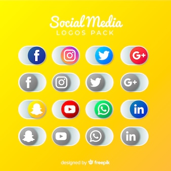 Collezione logo social media