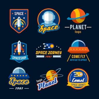 Collezione logo spaziale