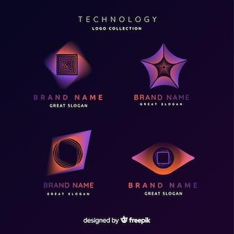 Collezione logo tecnologia