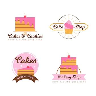 Collezione logo torta da forno