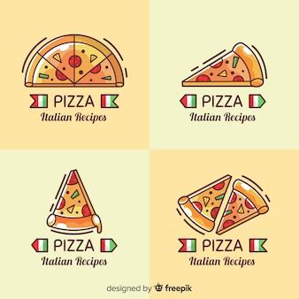 Collezione logotipo pizza