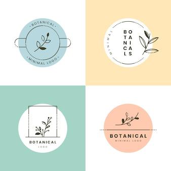 Collezione minimal logo con colori pastello