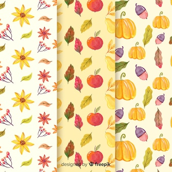Collezione modello autunno dell'acquerello