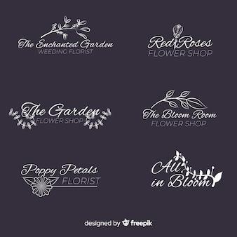 Collezione modello logo fiorista matrimonio
