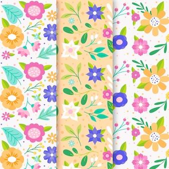 Collezione modello primavera in design piatto