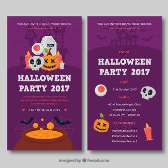 Collezione moderna della carta di halloween