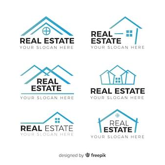 Collezione moderna di logo immobiliare