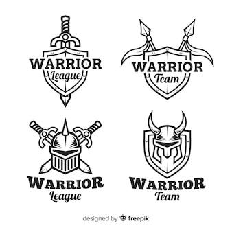 Collezione moderna di logo sportivo guerriero