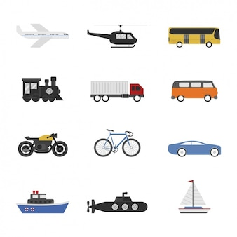 Collezione modi di trasporto