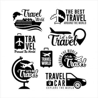 Collezione mondiale di logo da viaggio