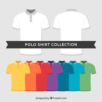 Collezione multicolore della camicia da polo