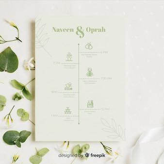 Collezione naturale di icone di nozze