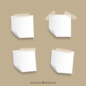 Collezione note in bianco