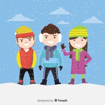 Collezione per bambini invernali