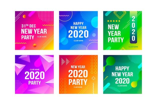 Collezione post instagram festa di capodanno 2020