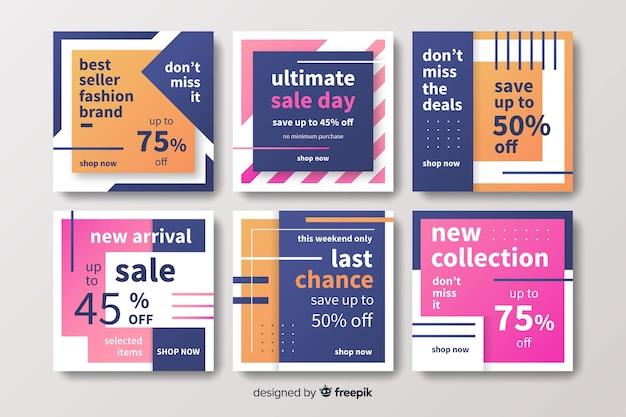 Collezione post vendita instagram moda