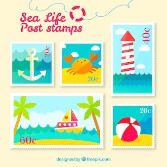 Collezione postale postale di estate