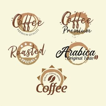 Collezione premium di badge caffè