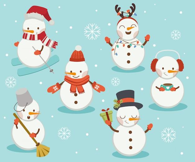 Collezione pupazzo di neve