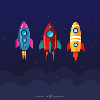 Collezione razzi spaziali