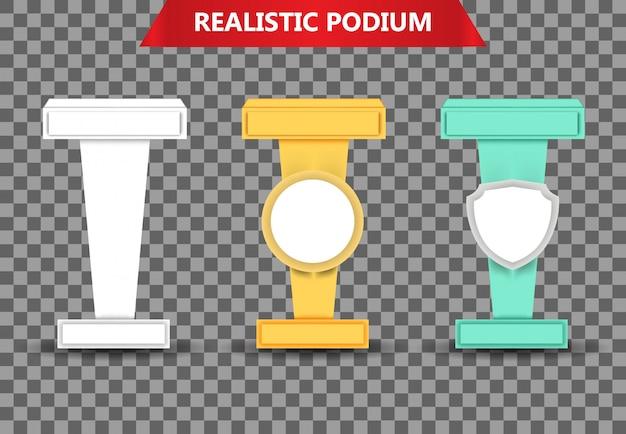 Collezione realistica di podio