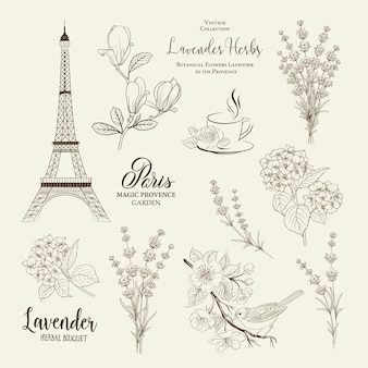Collezione romantica di parigi.