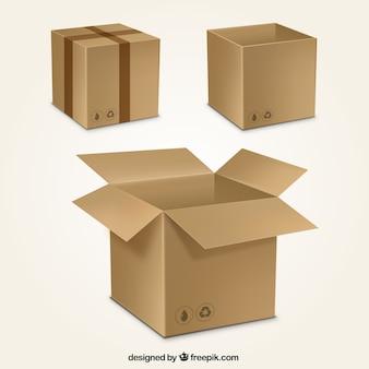 Collezione scatole di cartone