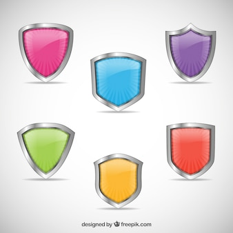 Collezione scudi colorati