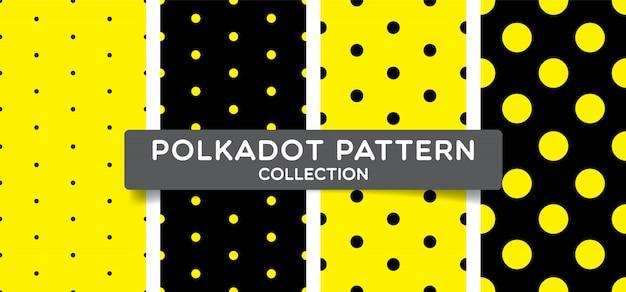 Collezione seamless pattern alla moda a pois.