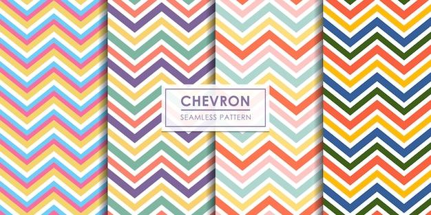 Collezione seamless pattern chevron