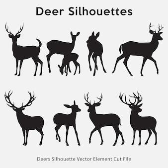 Collezione silhouette di cervi