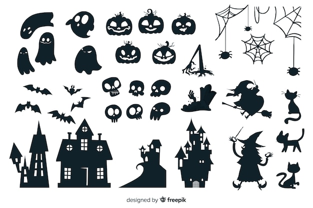 Collezione silhouette di halloween