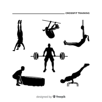 Collezione silhouette donna allenamento crossfit
