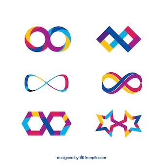 Collezione simbolo infinito colorato