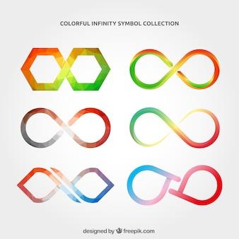 Collezione simbolo infinito con colori