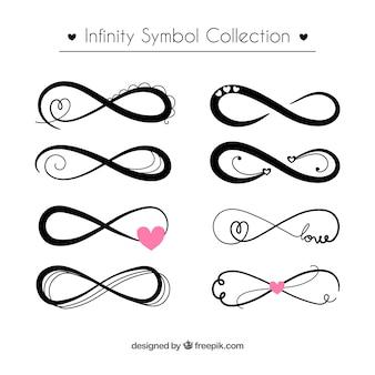 Collezione simbolo infinito in colore nero