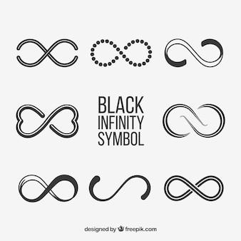 Collezione simbolo infinito nero