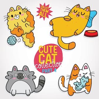 Collezione simpatico gatto