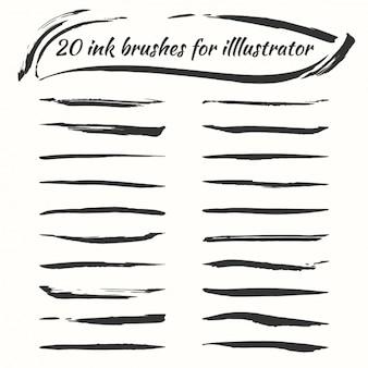 Collezione spazzole inchiostro
