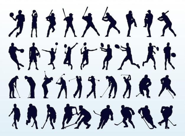 Collezione sport silhouette popolare