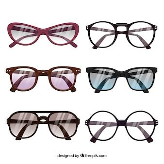 Collezione stagionale di occhiali da sole in stile flat