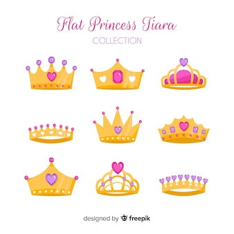 Collezione tiara principessa oro piatto