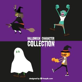 Collezione tipica di personaggi di halloween