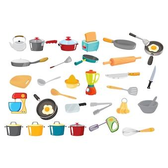 Collezione utensili da cucina