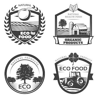 Collezione vintage di etichette naturali salutari